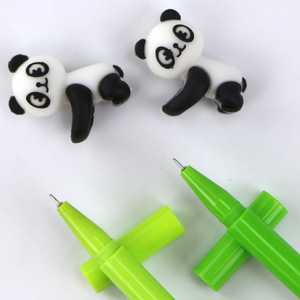 Image 3 - Caneta de gel de panda kawaii, 32 pçs/lote, canetas para escritório e escrita de tinta preta de bambu, artigos de papelaria