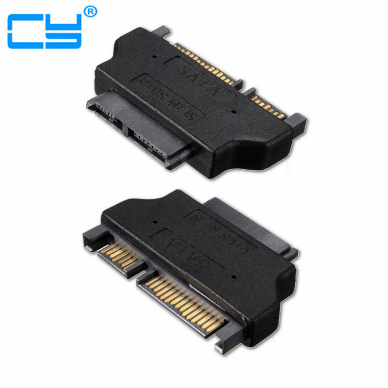 <font><b>SATA</b></font> 7+15 <font><b>22Pin</b></font> <font><b>Male</b></font> <font><b>to</b></font> <font><b>SATA</b></font> Female 7+6 <font><b>13Pin</b></font> Adaptor Convertor <font><b>Adapter</b></font> for Desktop Laptop HDD Hard Disk Drive image