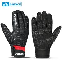 969 Red-INBIKE Touch Screen WinterWindproof Warm Full Finger Cycling Gloves