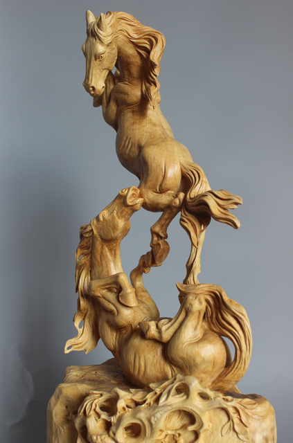 Yueqing boxwood carving home decoration opened high grade