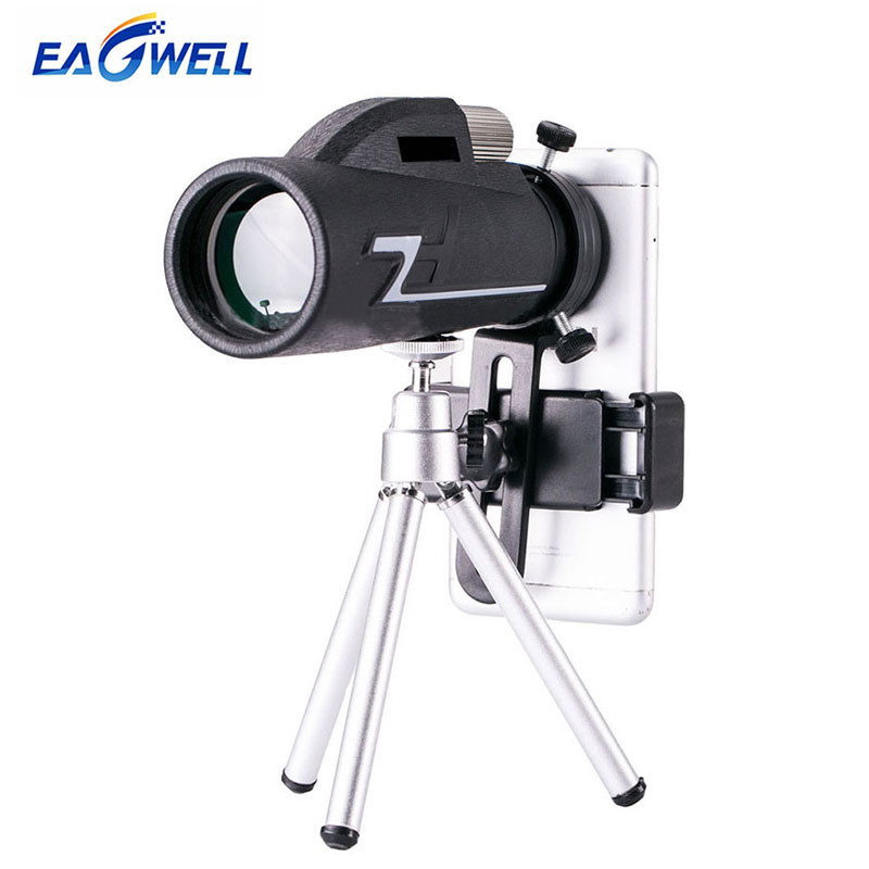 Universal 16×50 Zoom Telescope High Definition Mobile Phone Telephoto Lens for iPhone Samsung Outdoor Camping Fishing & Tripod
