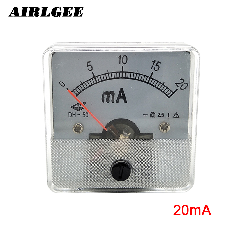 50 Series Current Analog Panel Ammeter Meter DC 0 20mA|analog panel ammeter|dc analog ammeteranalog ammeter dc - title=