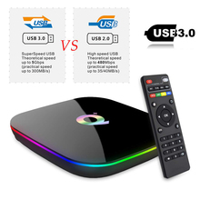 лучшая цена Q Plus Smart Android 9.0 TV Box 4GB Ram 32GB 64GB Rom 6K H.265 USB3.0 Netflix Allwinner H6 PK T95Q s905x2 media player