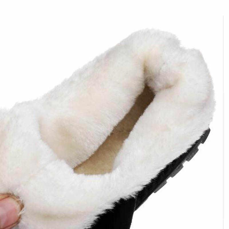HUANQIU Marka Ayakkabı Kadın Kar Botları Kış Kadın Zapatos Mujer Botas Ayak Bileği Schoenen Vrouw Scarpe Donna Yetişkin Slip-on kısa FM53
