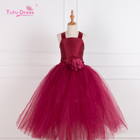 Teen Girls Wedding Long Gown Dress Elegant Princess Party Pageant Formal Dresses Sleeveless Children Girls Clothes