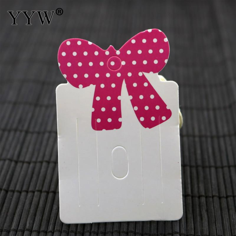 Yyw 100pcs High Quality Paper Card Hair Accessories