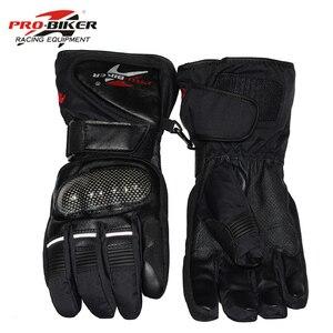 Image 3 - Pro Biker Guantes Motorcycle Gloves Waterproof Leather Gloves Motorcycle Winter Warm Full Finger Motocross Motorbike Moto Glove