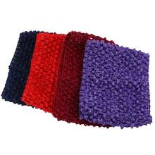 2016 14*14CM 30Colors 1Pcs elastic sale Baby Girl Crochet Tutu Tube Tops Chest Wrap Wide for diy tutu skirt Free Shipping FJ0032