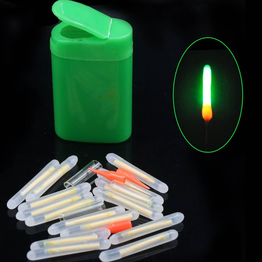 15/20pcs/lot 4.5x36mm/3.0*25mm Fishing Floats Fluorescent Lightstick Light Night Float Rod Lights Dark Glow Stick