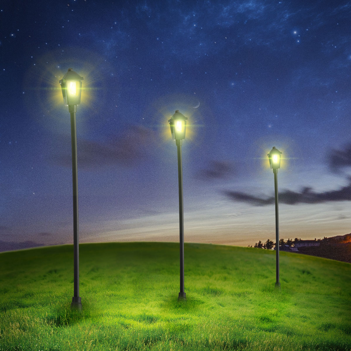 10pcs 70mm Led Light Lamp Model 1 100 Architectural Garden