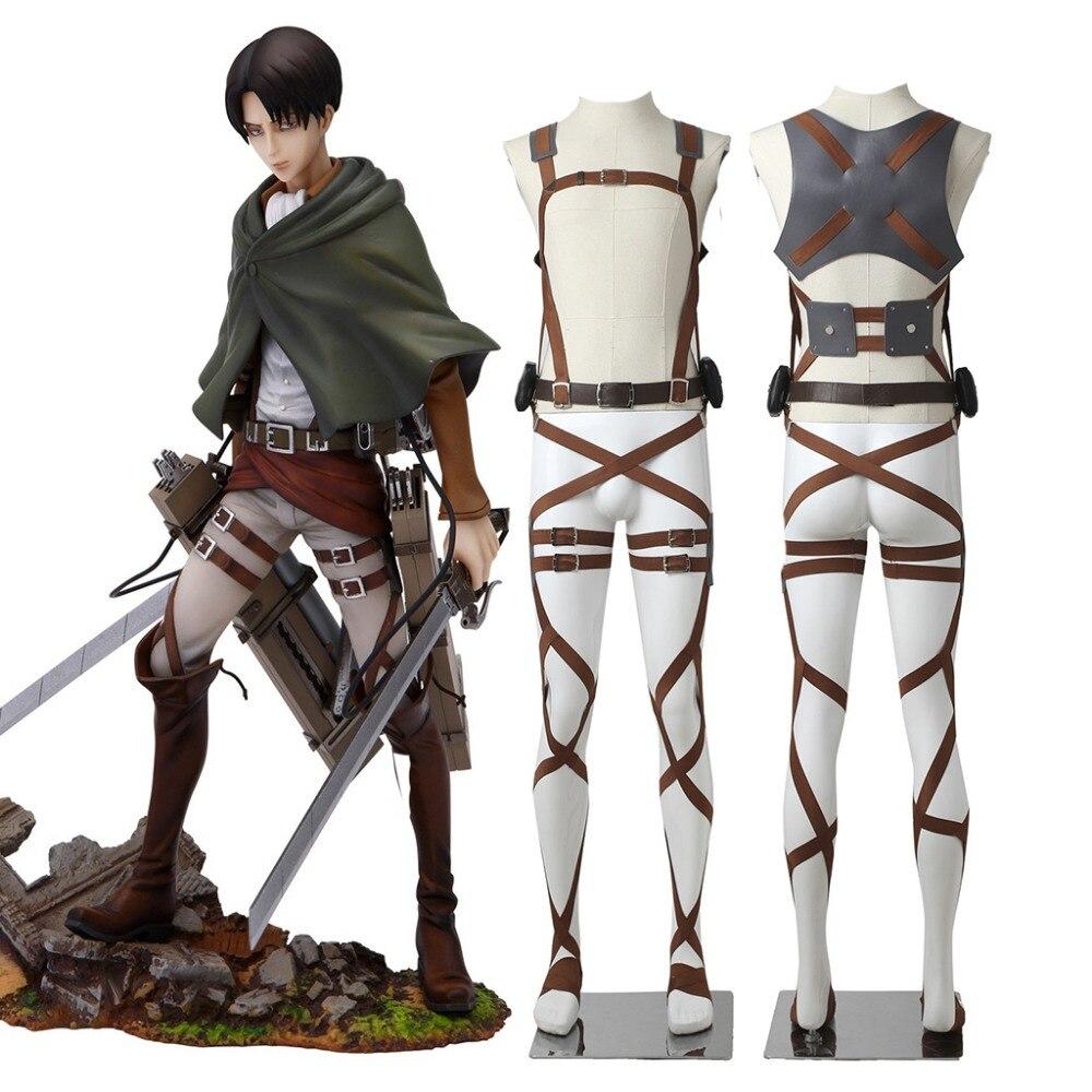 CosplayDiy Attaque Sur Titan Cosplay Shingeki Pas Kyojin Cosplay Recon corps Levi Ackerman Harnais Ceintures Grappin Costume Ceinture Costume