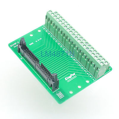 Hot Factory Direct Wholesale IDC40 male plug 40pin port header Terminal Breakout PCB Board block 2 row screw [vk] 553602 1 50 pin champ latch plug screw connectors