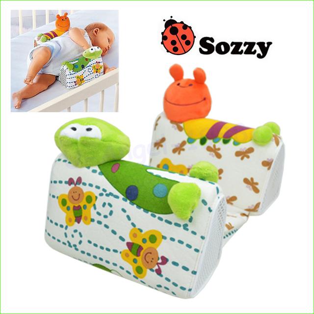 1 pcs Sozzy Finalizar O projeto travesseiro Anti Rolo Travesseiro Ajustar A posição do bebê moldar Lado travesseiro para dormir