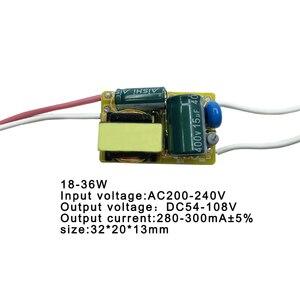 Image 3 - Светодиодный светильник драйвер 8 50 Вт, трансформатор, вход, блок питания, 280mA 300mA, светодиодный светильник, лампа, чип