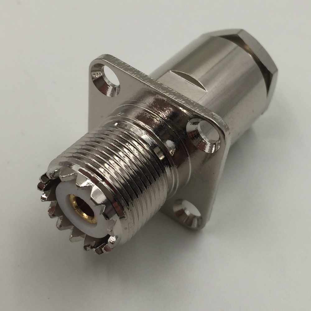 1pce Connector UHF SO239 jack pin Flange clamp RG8 RG213 LMR400 RG214 straight asus pce n15 300мбит с