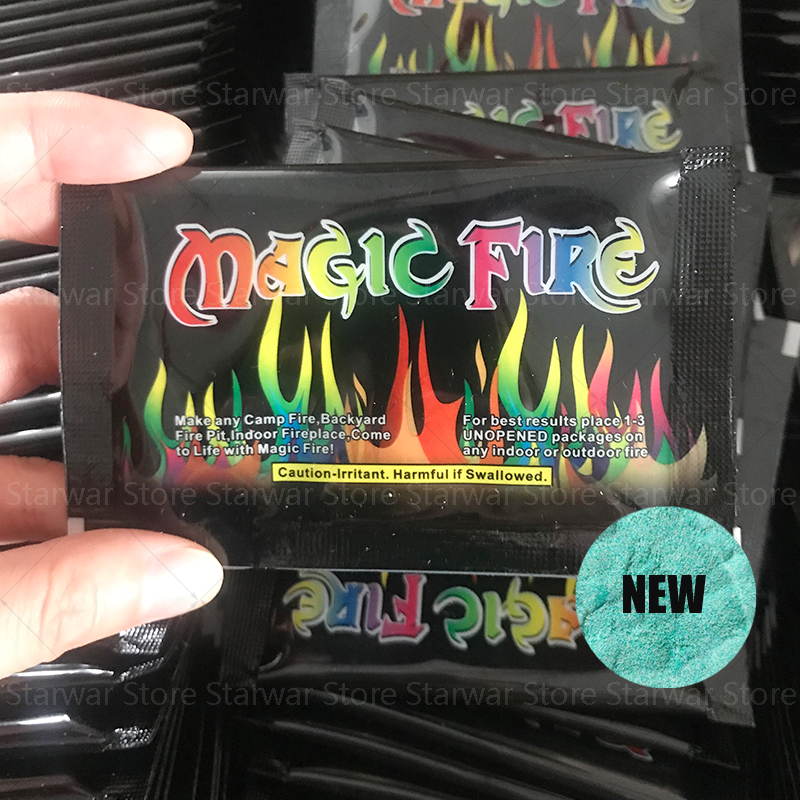 600g Hot Selling Mystical Colorful Fire Flame For Bonfire Campfire Party Festival Fireplace Coloured Flames Magic Tricks