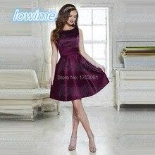 Dark Purple A Line Short Elegante Prom Party Kleider mit Lace Up Zurück Elegante Vestido De Fiesta Curto Mini Mezuniyet Elbiseleri