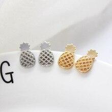 Boho Pineapple Fruit Small Earrings For Women Men Female ZA Bijoux Gold Color Statement Dangle Wedding  Jewelry