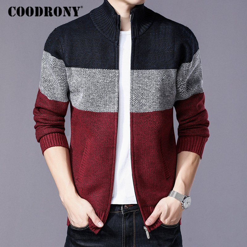 Image 3 - COODRONY Cashmere Wool Sweater Coat With Cotton Liner Zipper  Coats Sweater Men Clothes 2018 Winter Thick Warm Cardigan Men  H003Cardigans