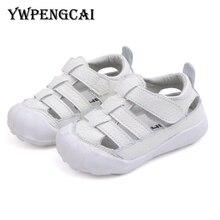 4688439d1fb83 YWPENGCAI جلد طبيعي صنادل للأطفال مغلقة اصبع القدم الوليد الرضع الصيف في  الهواء الطلق الأحذية محبوك تنفس الطفل الصبي الصنادل