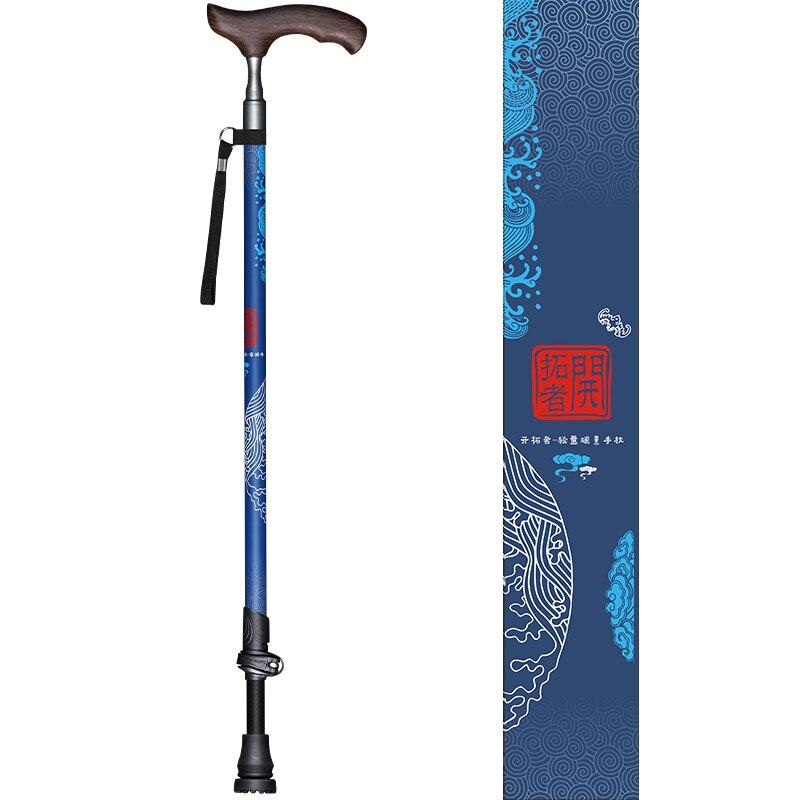 Fibre de carbone bois T poignée bâtons de marche pour le tourisme canne Trekking marche nordique pôle randonnée béquilles Bar ultra-léger seulement 219g - 3
