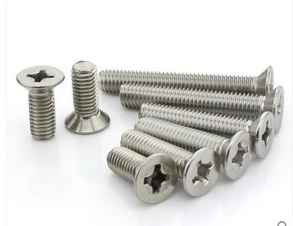 10-24 Flat Head Countersink Machine Screws Slotted Drive Stainless All Sizes