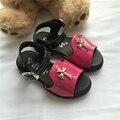 4-6 anos de idade do bebê menina do verão PU sandálias calçados infantis meninas sapatos de verão