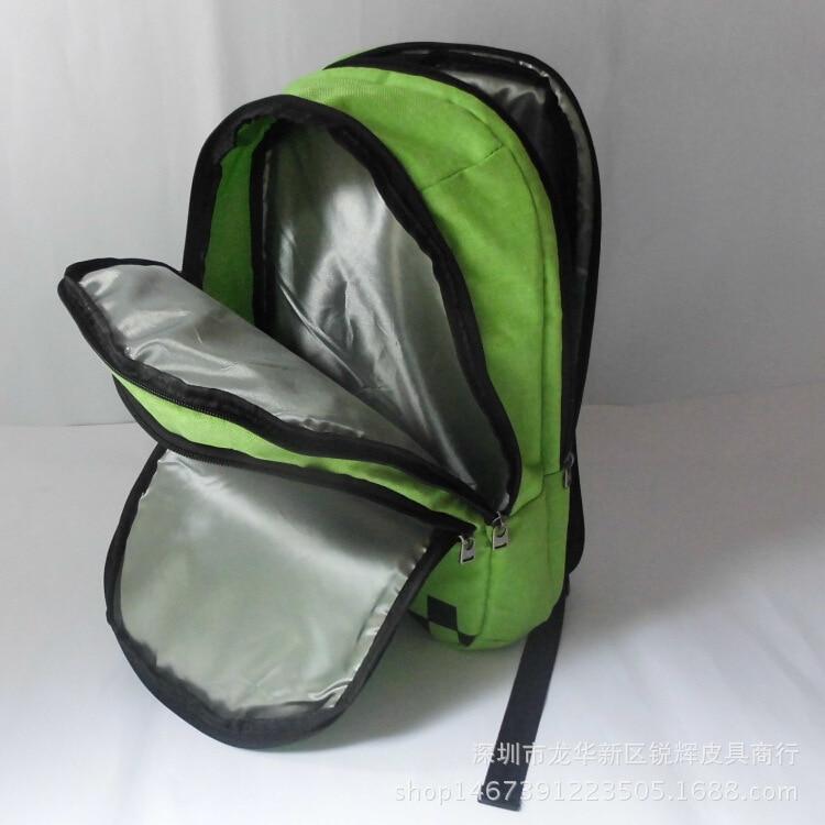 Free shipping minecraft backpack high quality unisex children mochilas school bag bolsas boy girls canvas zip creeper backpacks