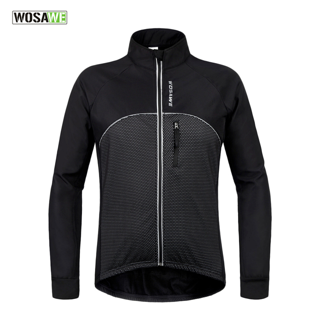 Black reflective cycling jacket