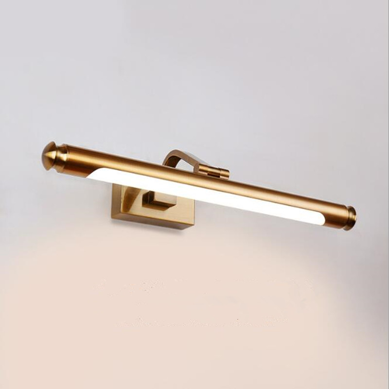 Modern Loft Creative Waterproof Bronze Bedside Led Wall Lights Art Hotel Room Study Bathroom Mirror Lamp Free Shipping