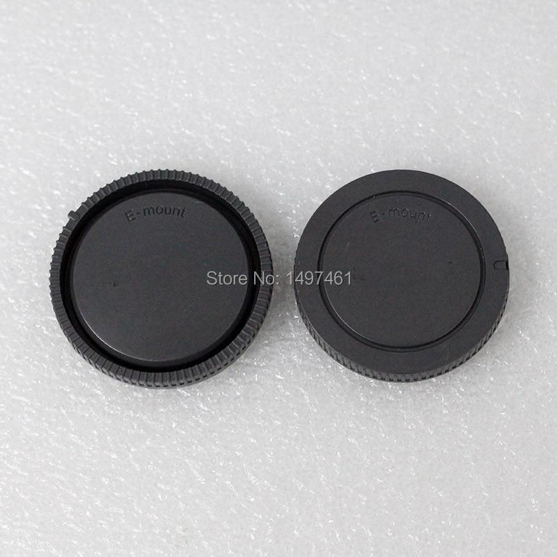 100PCS E-mount Rear lens cap + Bady front cap cover for all Sony NEX-6 NEX-7 NEX5 NEX5T NEX5R NEX3N A6000 A6500 A7 A7II camera