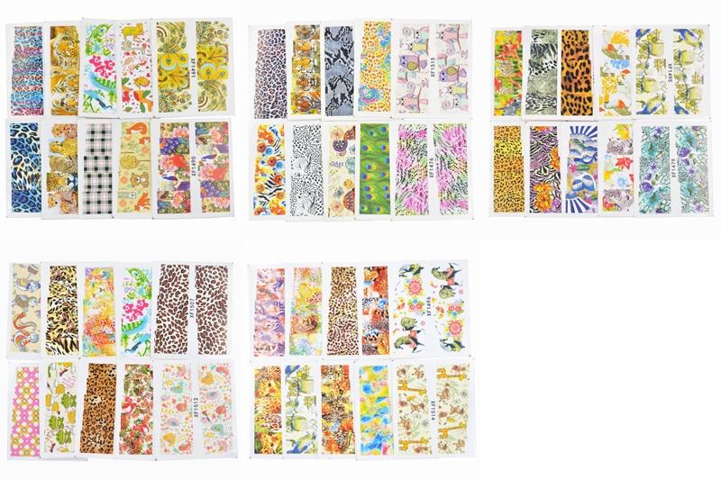 600 Дизайн Су таңбалары Flower Leopard Animal Etc - Маникюр - фото 6