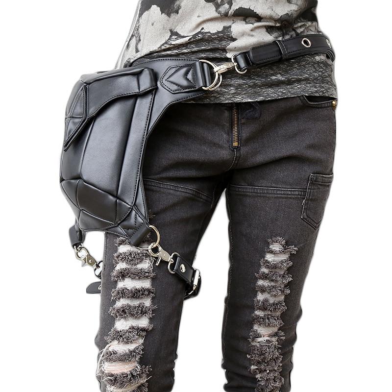 Steel Master Fashion Gothic Steampunk Retro Rock Nahast õlakott - Käekotid - Foto 3