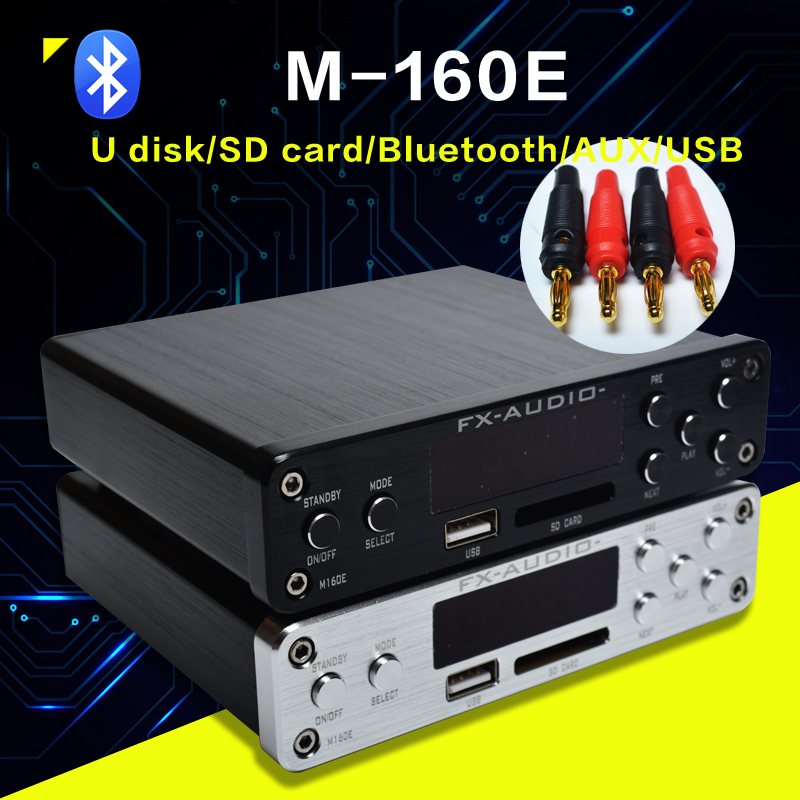 FX-Audio M-160E Bluetooth@4.0 Digital Audio Amplifier Input USB/SD/AUX/PC-USB Loseless Player For APE/WMA/WAV/FLAC/MP3 160W*2
