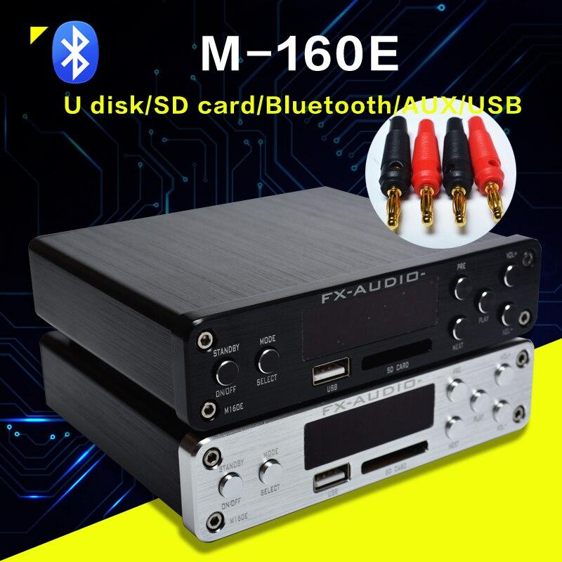 FX M 160E Audio Bluetooth@4.0 amplificateur Audio numérique entrée USB/SD/AUX/PC USB lecteur Loseless pour APE/WMA/WAV/FLAC/MP3 160 W * 2-in Amplificateur from Electronique    1