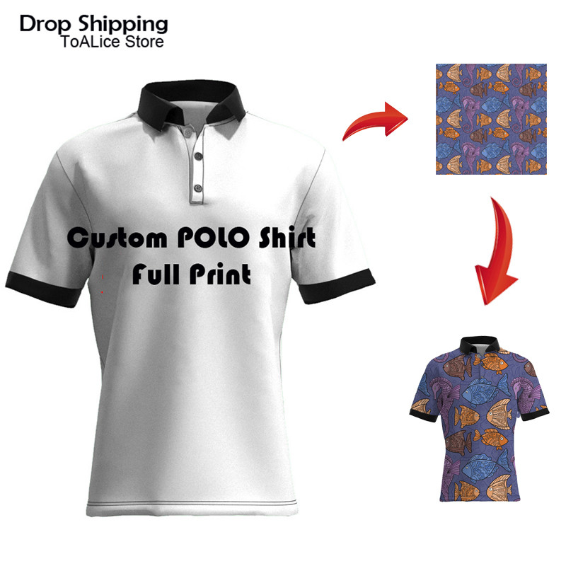 Plus Size Custom Print DIY Brand Men's   Polo   Shirt Personalized Your Logo Short Sleeve Shirt 3D All Over Full Print   Polo   Shirts