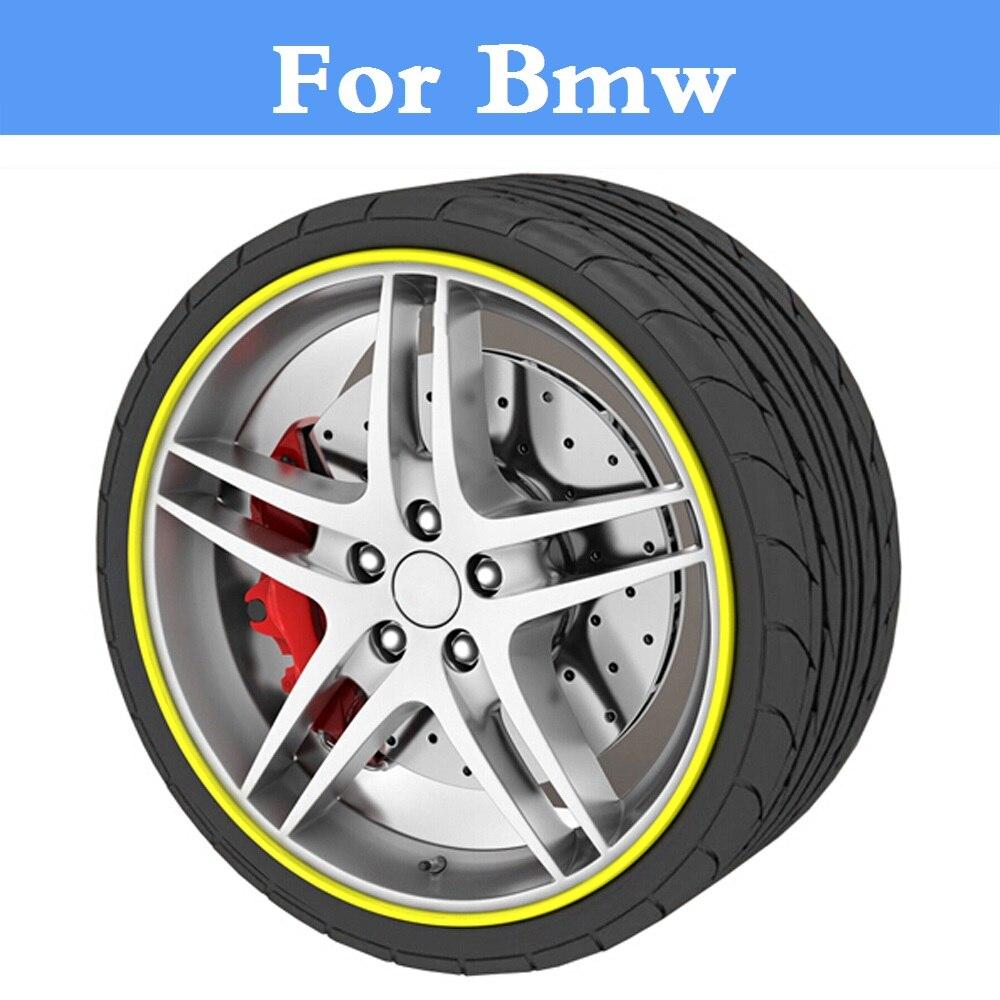 8M/Roll Auto Wheel Hub Tire Sticker Car Decor Styling Protection For Bmw 320i 325i 328i 330i 335i