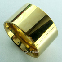 Gold Plated Stainless Steel His Mens Or Her Women Wedding Engagement Ring R259 Size 7 8