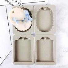 Восковые силиконовые формы для гипс, Свеча делая DIY splitable 4 ссылки ароматерапия гипса мыло ручной работы Mold Овальный декоративно-прикладного искусства