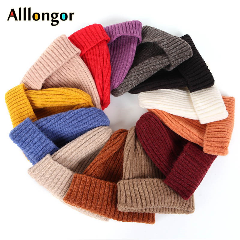Autumn 2019 Winter   beanie   Women Hat Men   beanies   for ladies bonnet femme knitted cap pink black Red Hip Hop gorros mujer invierno