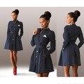 2015 Женская Точка Украшения Рукавами Худых Моделей Тонкий Sexy Mini Dress Casual Style Dress Three Colors Dress Vestidos Q0009
