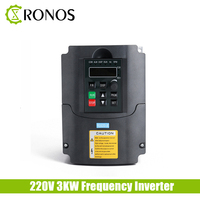 3KW 220V Single Phase input and 3 Phase Output Frequency Converter / Adjustable Speed Drive / Frequency Inverter / VFD