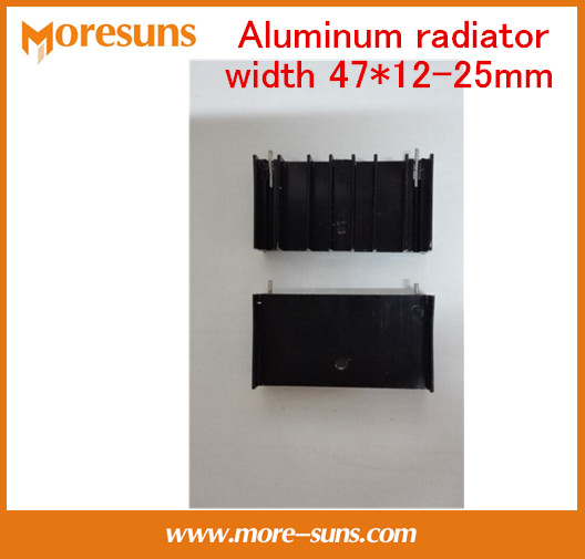 Fast Free Ship 50pcs/lot Aluminum Radiator Width 47*12-25mm/width47mm*high12mm*length 25mm Heatsink