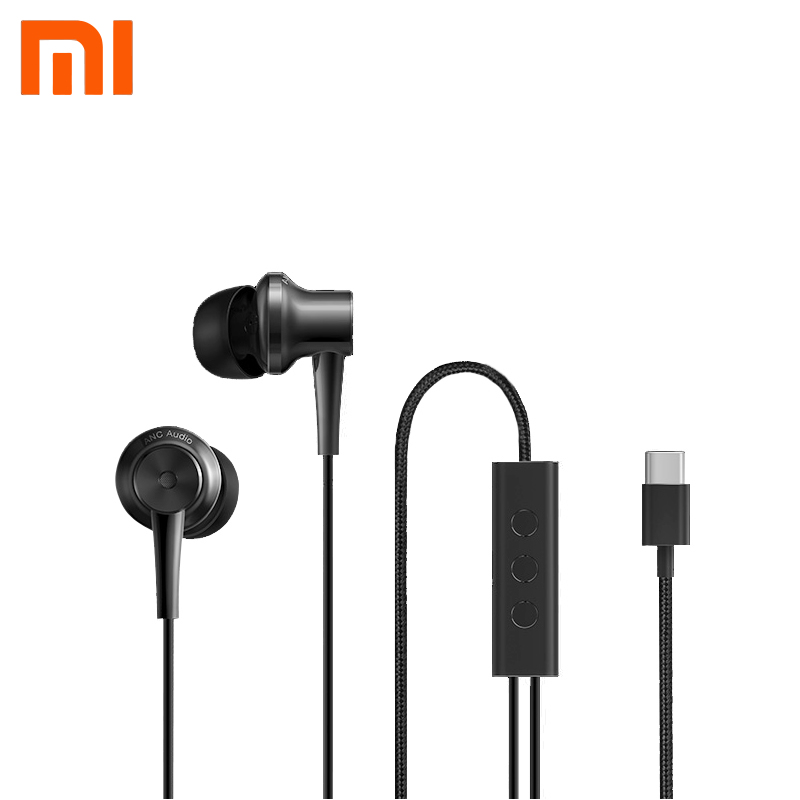 Original Xiaomi Earphone Type-c Interface ANC with Micphone Line Control Hybrid Tech Headsets For Xiaomi 5S/6/5/Plus/MIX/Note 2