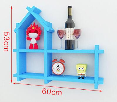 Купить с кэшбэком Solid wood shelf on the wall.. Hanging bookcase bedroom walls. Decorative frame