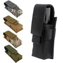 CQC Molle Tactical M5 Flashlight Pouch Single Pistol Magazine Torch Holder Case Outdoor Hunting Knife Light Holster Bag