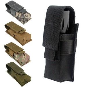 CQC Molle Tactical M5 Flashlight Pouch Single Pistol Magazine Pouch Torch Holder Case Outdoor Hunting Knife Light Holster Bag