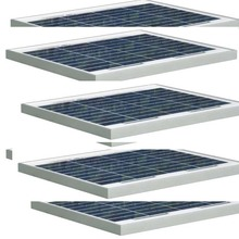 Panel Solar 18v 10w 5Pcs Panneau Solaire Policristallin 50w 12v Battery Charger Motorhome RV Caravanas Autocaravanas
