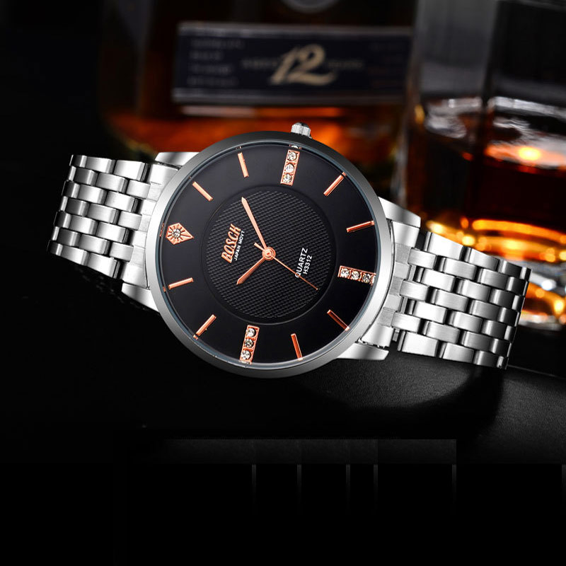 Brand Bosck Ultra Thin Quartz Watch Luxury Men Watches Stainless Steel Band Elegant Man Watch Clock Men Relogio Masculino 2017 fashion watch top brand oktime luxury watches men stainless steel strap quartz watch ultra thin dial clock man relogio masculino