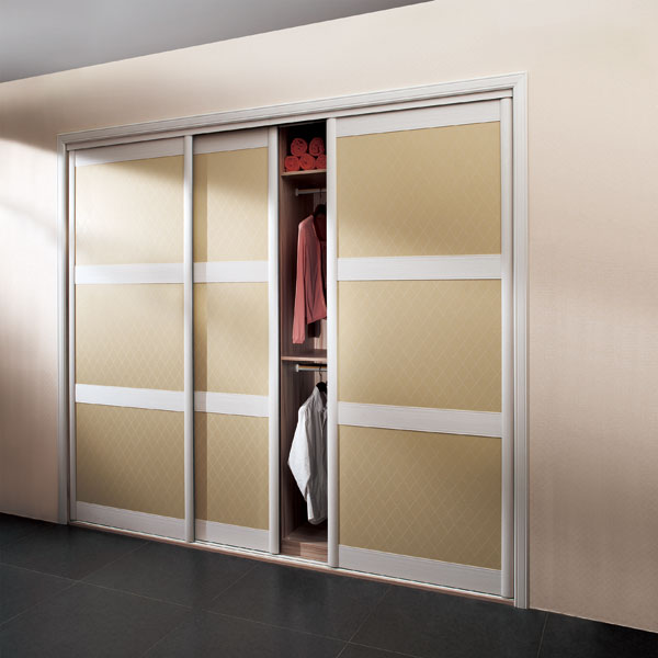 US $2072.43 |OPPEIN Sliding Door Built in PU Leather Bedroom Wardrobe-in  Wardrobes from Furniture on AliExpress